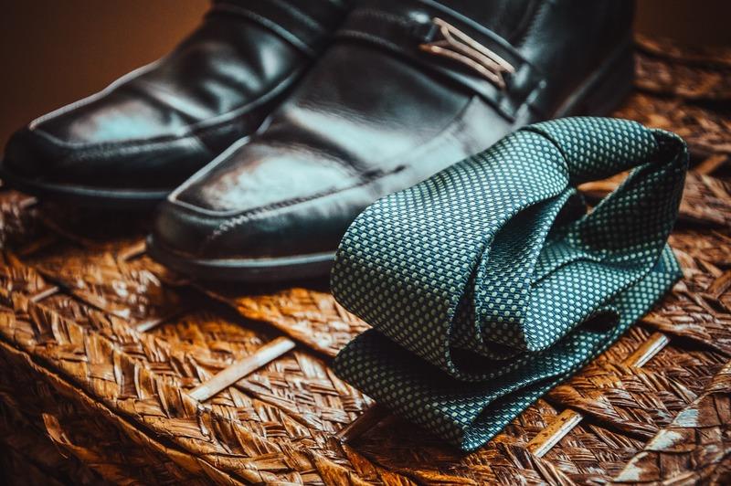 ネクタイと靴。ビジネス。