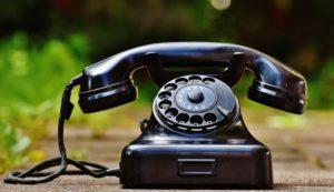 アンティークな電話機