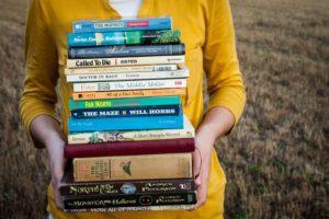 辞書や本がいっぱい