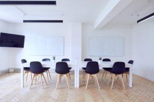 英語教室の風景、ホワイトボード