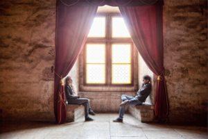 英会話する2人