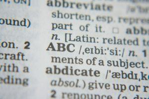 英単語の辞書