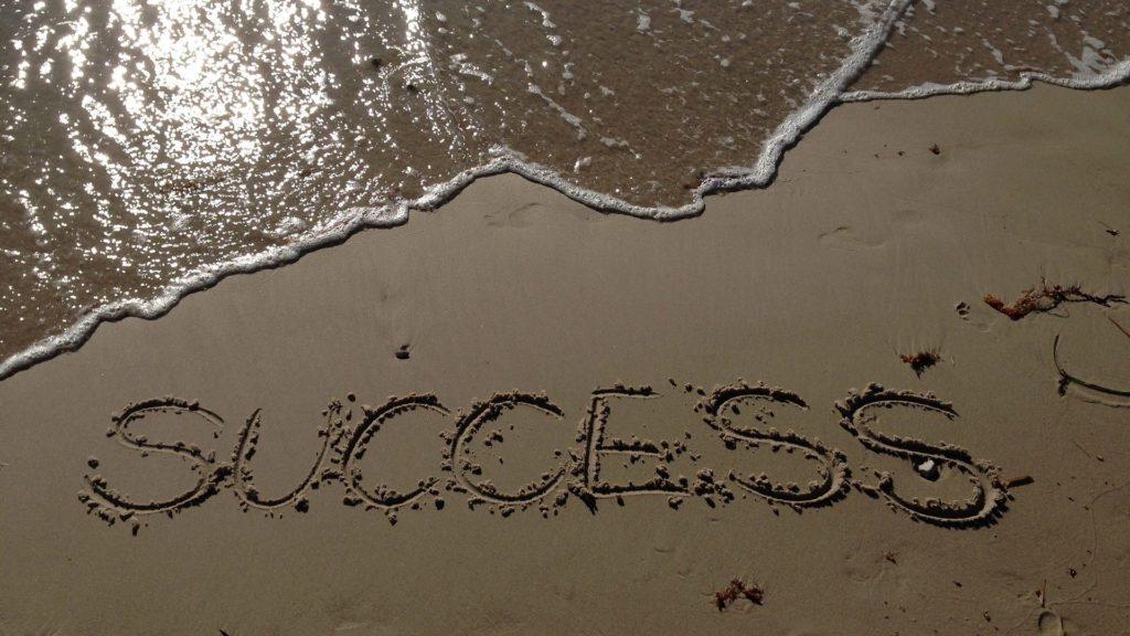 success_on_beach